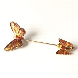 Butterfly Stick Pin Vintage Jewelry